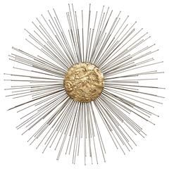 "SALE SATURDAY  Jere Midcentury Wall Sculpture ""Sunburst"" Huge,  His Best"