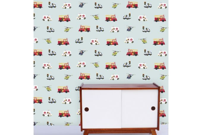 Choppers and Wheels Wallpaper  by Design Kist on hellopretty.co.za