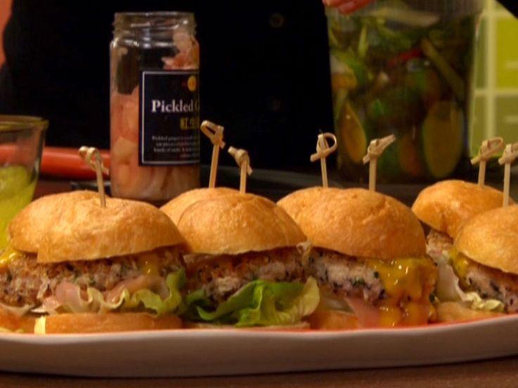 Crunchy Tuna Burger recipe from Rachael Ray via Food Network