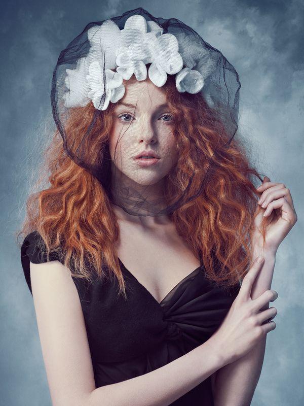 Brides & Widows by Joanna Kustra: Art Portfolio, Joanna Kustra, Art Schools, Red Hair, Grid Design, Portraits Paintings, Portraits Photography, Fashion Photography, Red Head