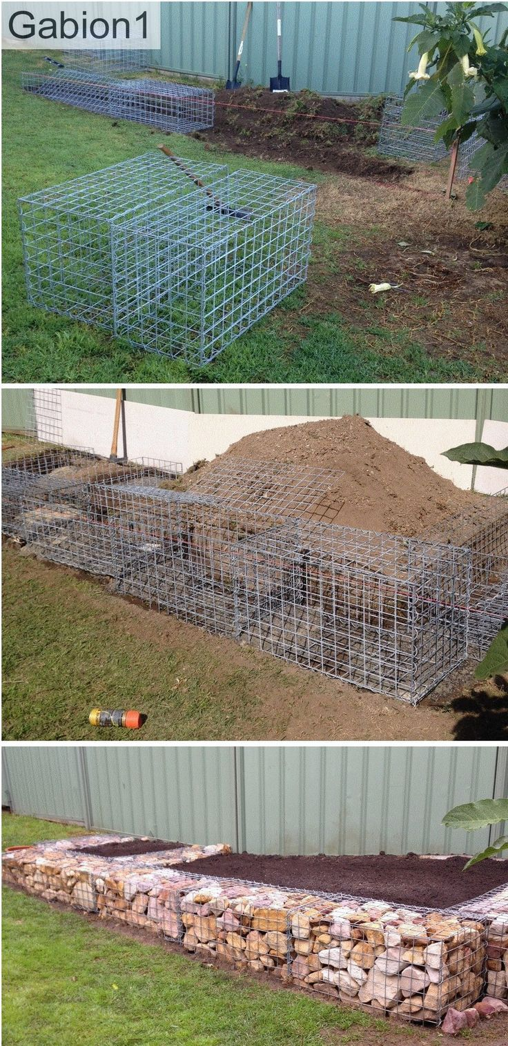 Patio Retaining Wall Construction Details : Garden gabion retaining wall construction http
