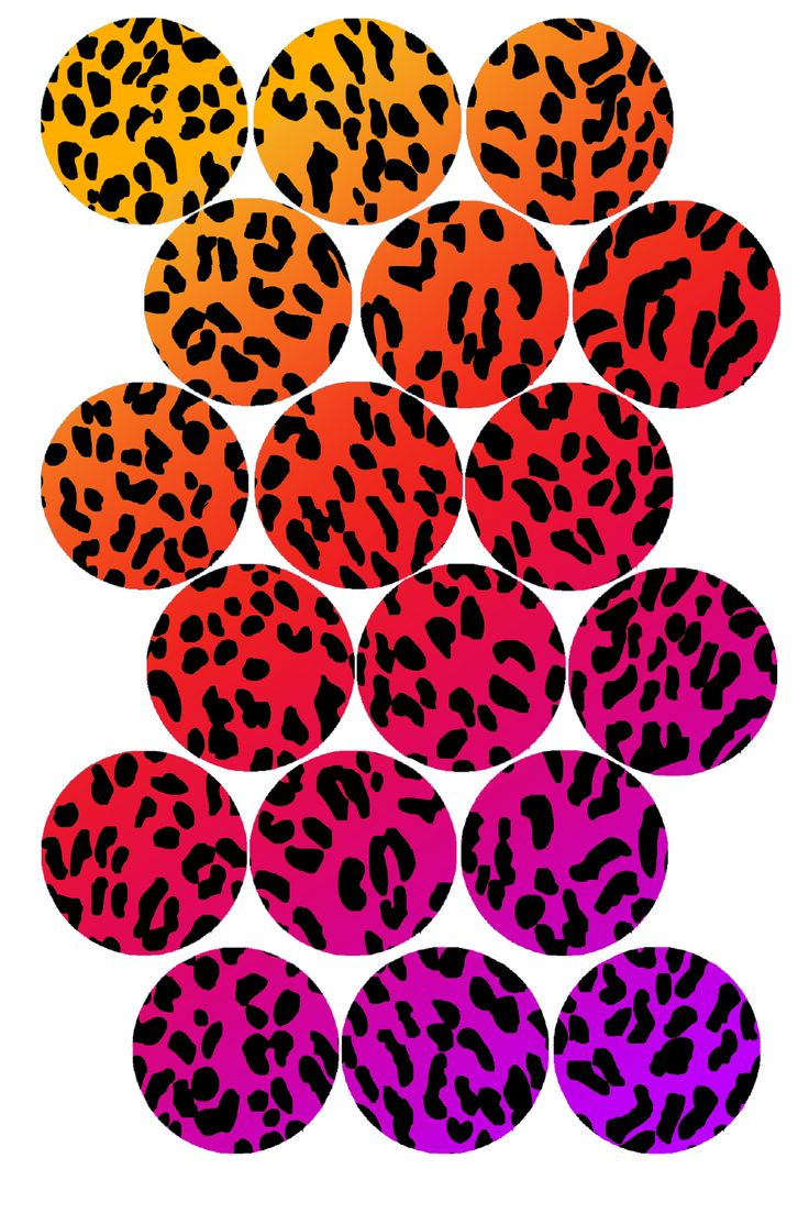 "Rainbow Cheetah Print  Bottle cap image pack  Formatted for printing on 4"" x 6"" photo paper"