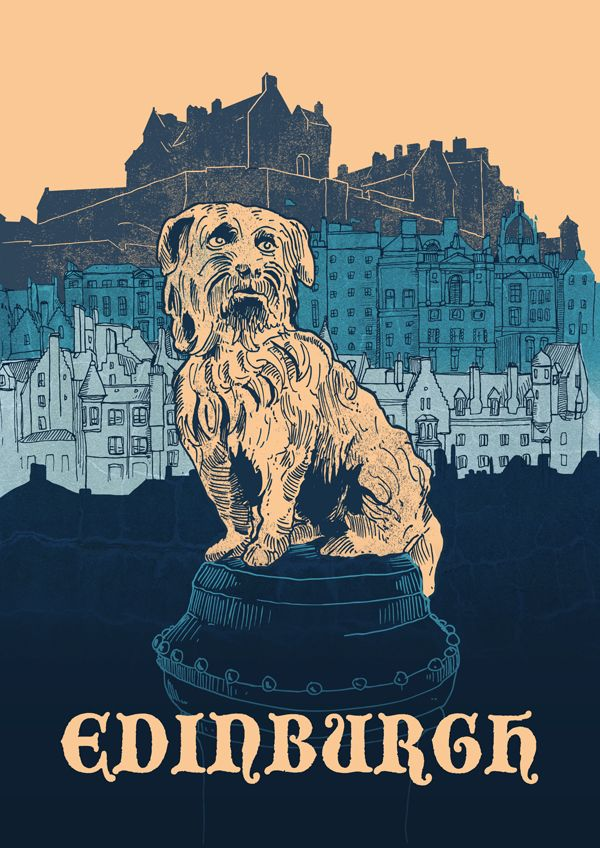 A very true-to-life Edinburgh poster by Stefan Große Halbuer, entered into the Human Empire city poster competition.