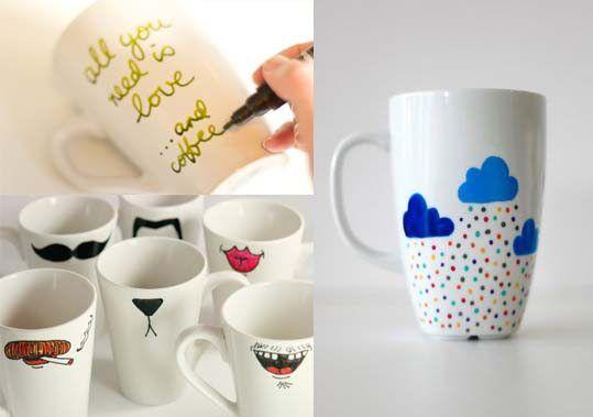 Cómo decorar tazas y vajilla de cerámica. | Mil Ideas de Decoración
