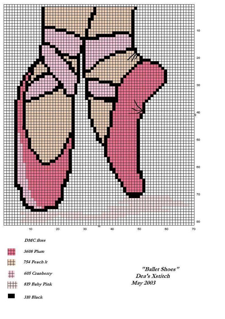 Schema punto croce Scarpette Ballerina
