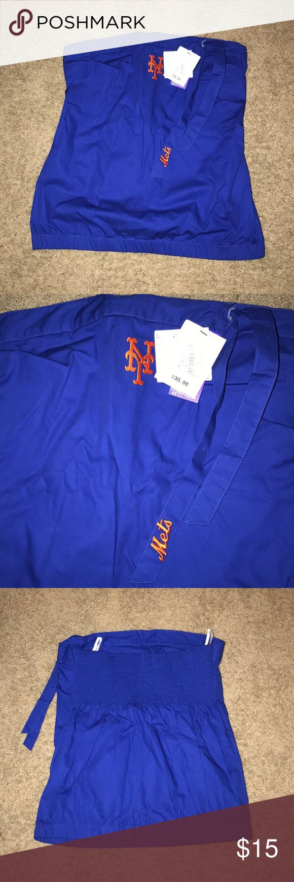 New York Mets tube top Brand new New York Mets tube top! Great for hot days at the ballpark. Cute tie at the top with Mets on the tie. Touch by Alyssa Milano Tops