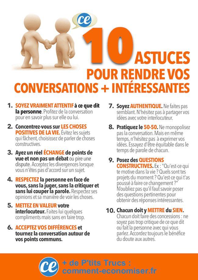 10 Astuces SIMPLES Pour Rendre Vos Conversations PLUS Intéressantes.