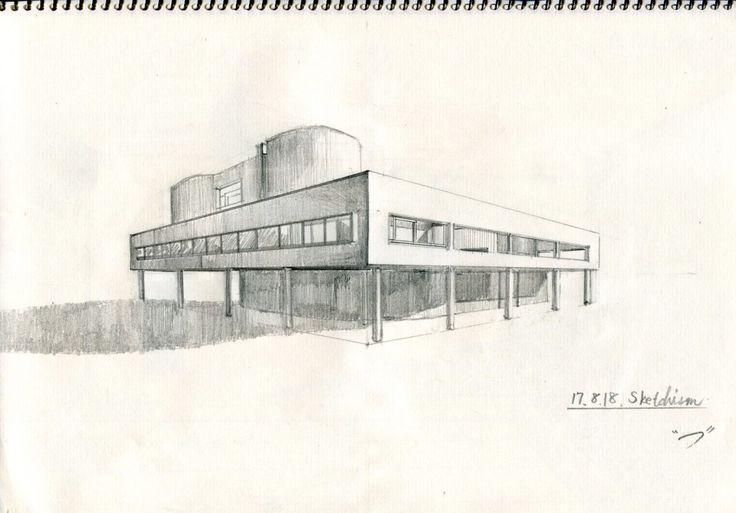 ル・コルビジエのサヴォア邸について、その特徴を平面図やスケッチを用いて考える。その宇宙船のような姿にはしっかりとした意図が込められていた…!?→http://sketchism.jp/villa-savoye/