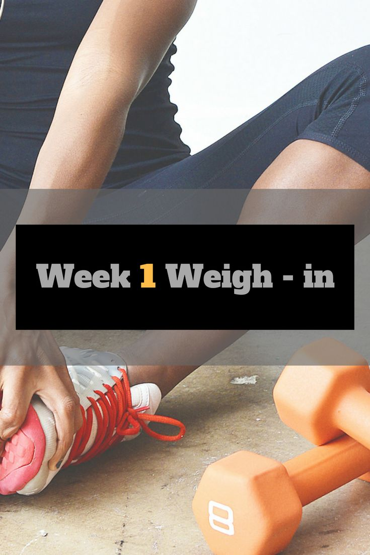 The first week is over! How did I do? Check out my first week weigh in and check out how I felt!