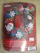 Plaid Bucilla Christmas Toys Wreath Kit