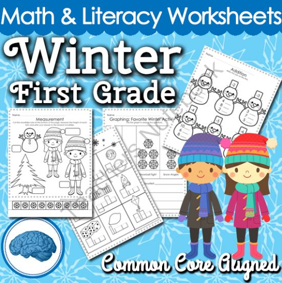 winter themed math literacy worksheets for first graders look no further for winter. Black Bedroom Furniture Sets. Home Design Ideas