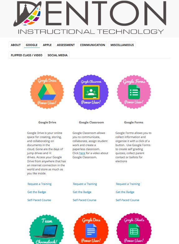 Use CANVA to Create BADGES for Staff and Students: https://sites.google.com/a/g.dentonisd.org/denton-isd-instructional-technology-badges/google-apps