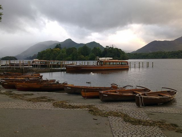 Derwentwater Boats and Catbells, Keswick, Cumbria, Lake District by woodytyke, via Flickr