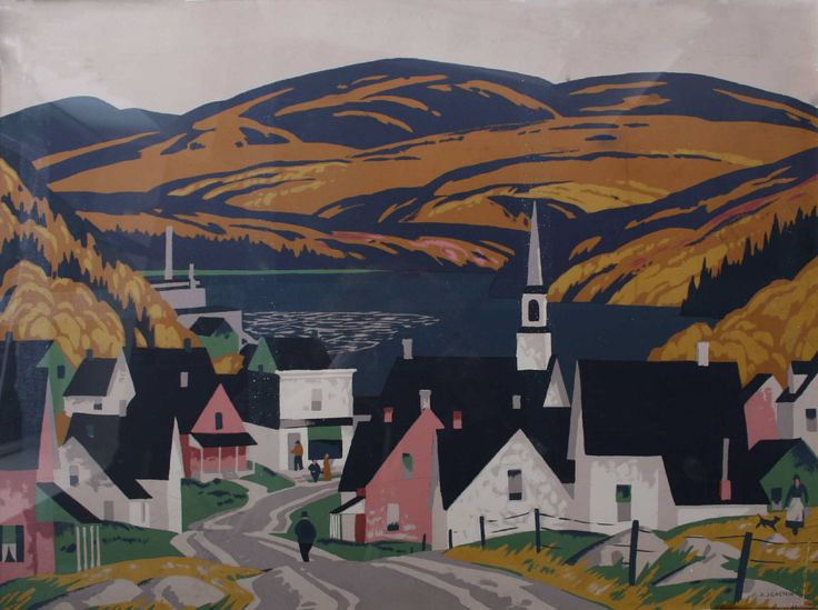 The Village by Alfred Joseph (A.J.) Casson (Soquel!), Canadian Group of Seven