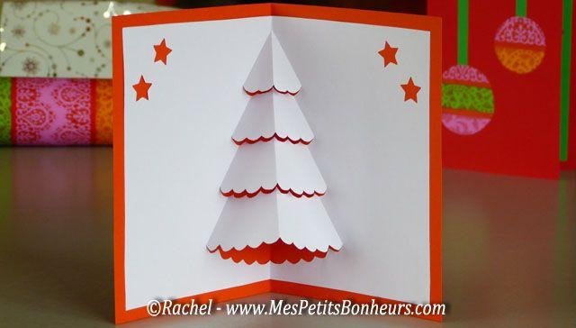 carte de noel sapin blanc pop up à imprimer