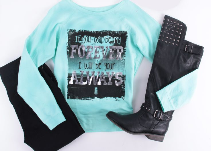 Cute mint and black outfit from deb shop