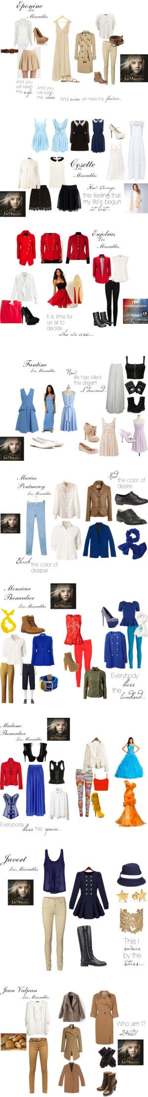 """""""Les Miserables Inspired Outfits"""" by little-fall-of-rain on Polyvore. I want all of these"""