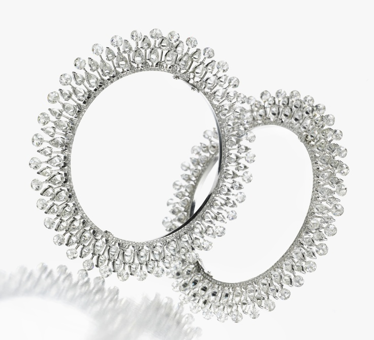 A Pair of Diamond Bangles by Viren Bhagat. Available Exclusively at FD Gallery.  www.fd-inspired.com