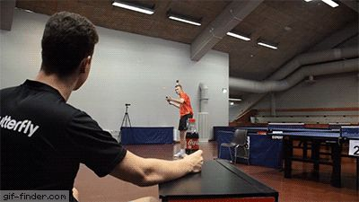 This ping pong shot is absolutely ridiculous | Gif Finder – Find and Share funny…