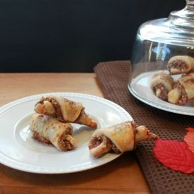 Delicate cream cheese pastry wrapped around a sweet filling made with ...