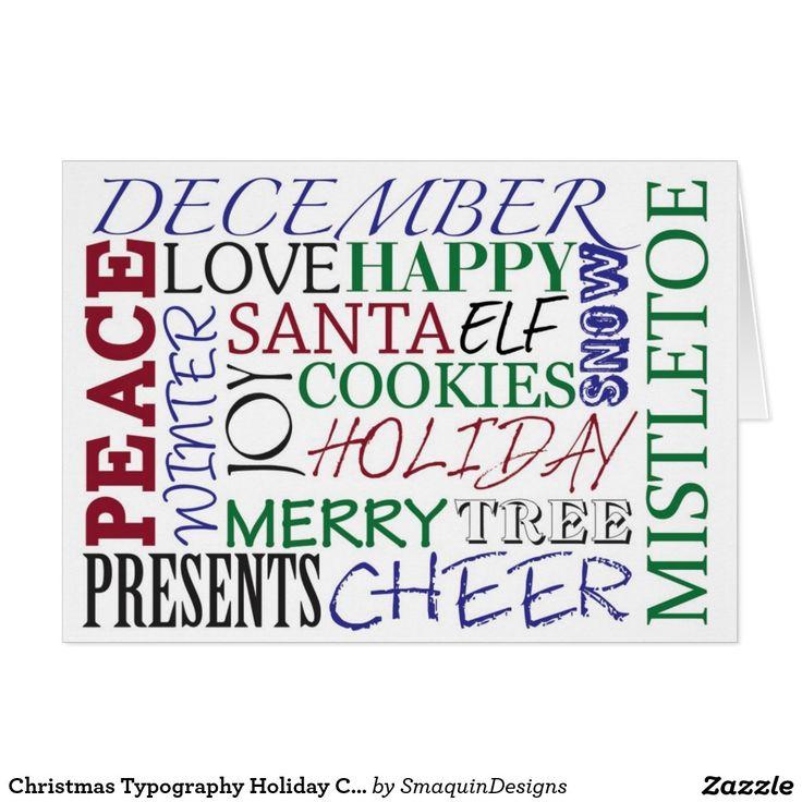 Christmas Typography Holiday Card