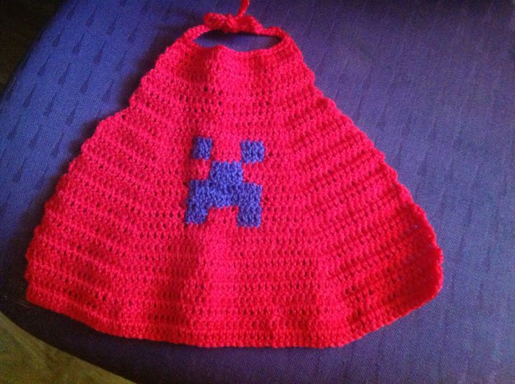 Cape crochet from pure wool for Minecraft Enderman Character.