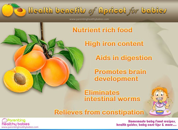 The benefits of adding Apricot to your baby's food.