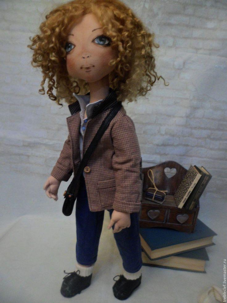 Купить Студентка Лена. - кукла ручной работы, кукла интерьерная, кукла в подарок, подарок