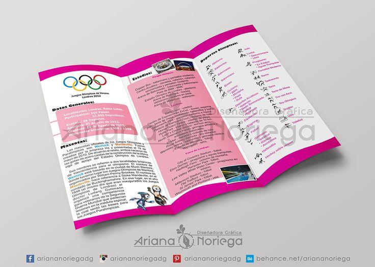 Dípitico informativo sobre los Juegos Olímpicos Londres 2016 - Arte Final Interior