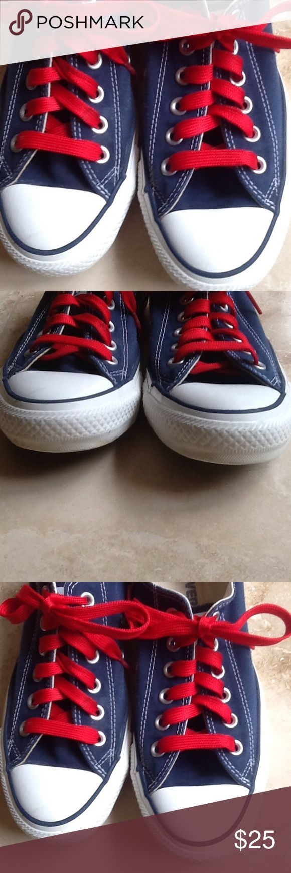 All-Star Converse 4th of July color combo. Ladies size 7. Only wear is a little bit on inside. Nice white rubber. Converse Shoes Sneakers
