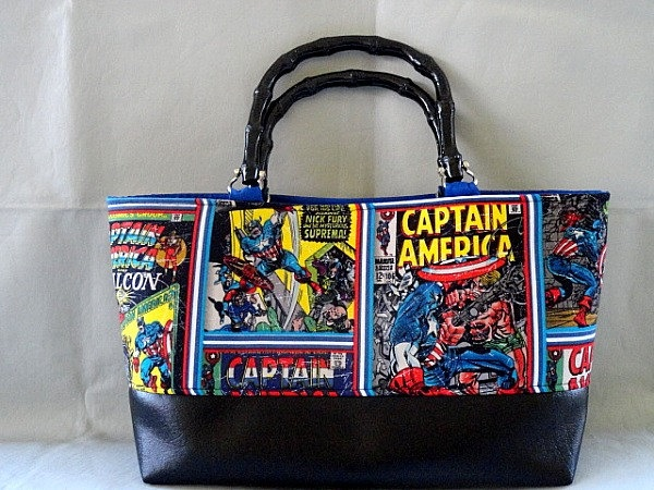 Color Comic Captain American Vintage Bamboo by RebelDowntown. $45.00, via Etsy.