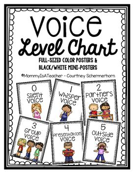 Voice Level Chart/Posters