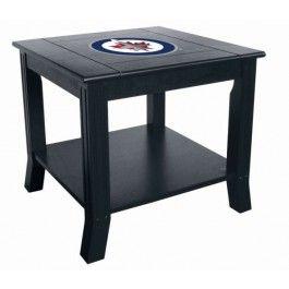Winnipeg Jets NHL Living Room/Office End/Side Table