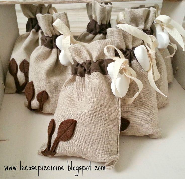 Le cose piccinine: tutorial sacchetti porta confetti