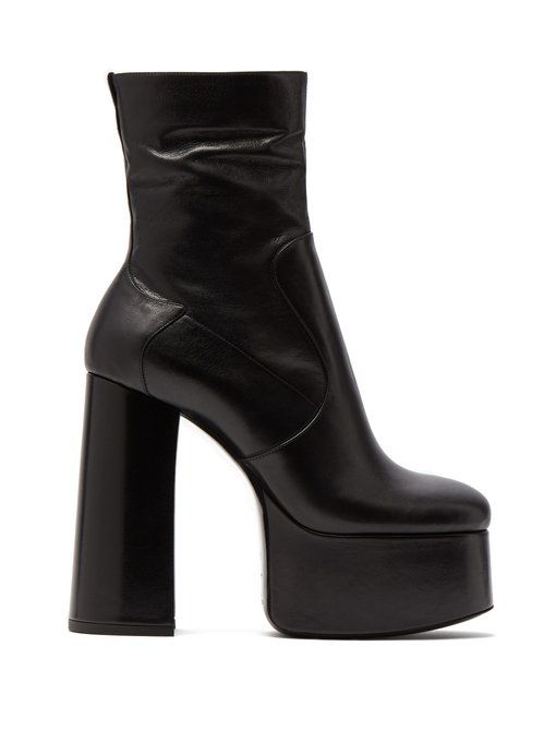 0998b3cbf6 Saint Laurent Billy leather ankle boots | Black-黒 -noir in 2019 ...