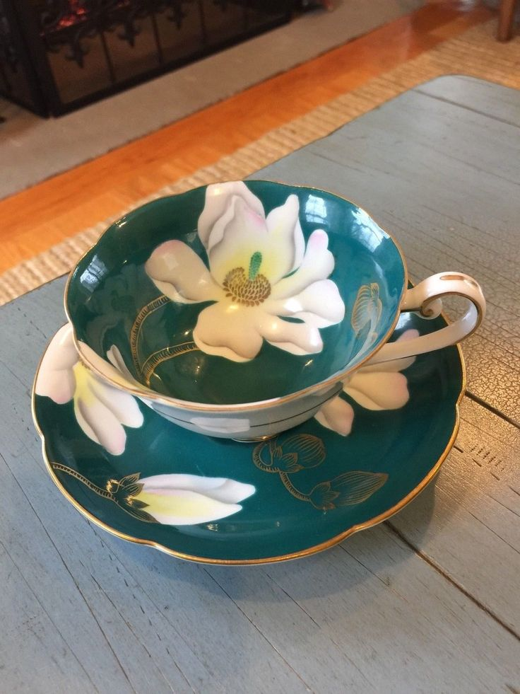 WAKO Tea Cup and Saucer Made In Occupied Japan Teal Floral - CAD $19.44. This listing is for a beautiful teacup and saucer made in Occupied Japan by Wako. The cup has pretty floral and gold designs. The cup measures 2 1/8 inches tall, and the saucer is 5 1/4 inches across. The set is in very good, vintage condition. Please see my other teacup listings. Thank you! 232684696112