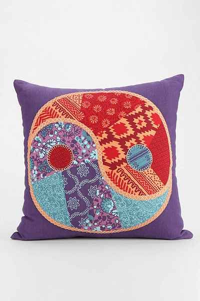 Magical Thinking Patchwork Yin-Yang Pillow - Urban Outfitters