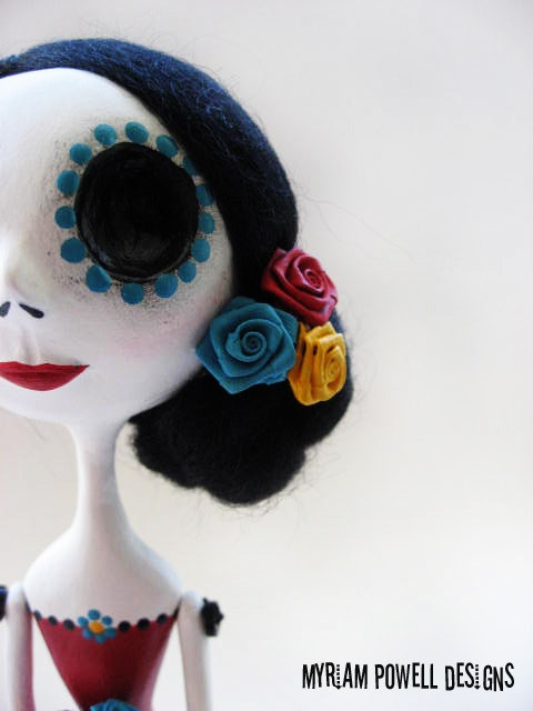 Day of the Dead Doll - Dia de los muertos - Art Doll - Made to Order