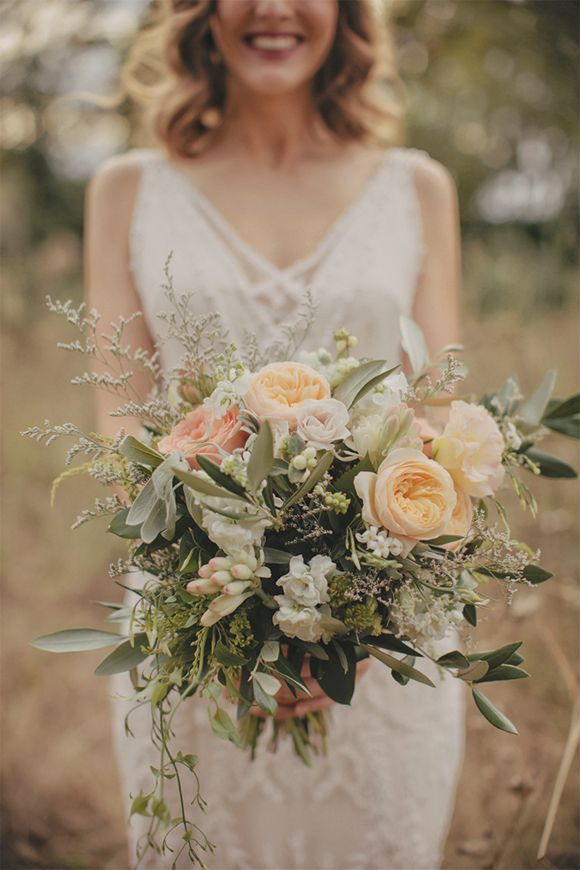 Romantic Auckland wedding by Danelle Bohane, bouquet by Leaf & Honey