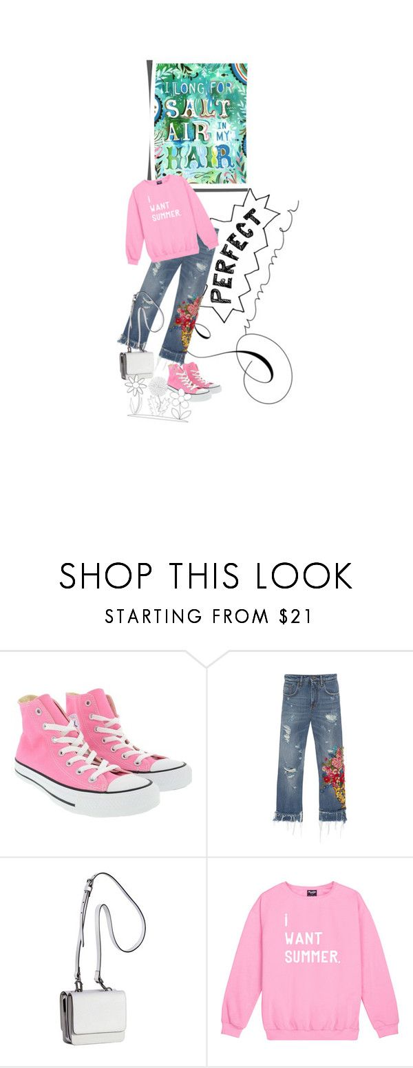 """""""I want summer"""" by silver-sun ❤ liked on Polyvore featuring Converse, Dolce&Gabbana and Kendall + Kylie"""