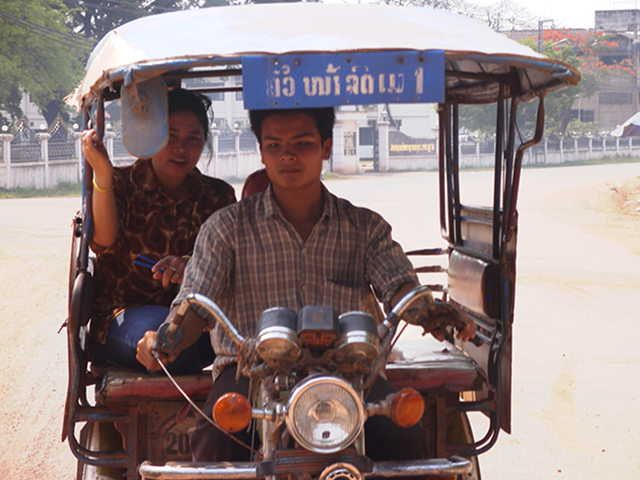 Motor taxi #Laos