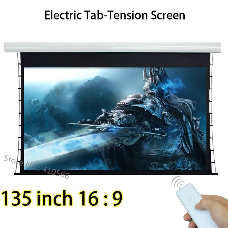 537.70$  Buy now - http://alihg0.worldwells.pw/go.php?t=32686830891 - Large Cinema Front Projection Screen 135-inch 16:9 Projector Screen With Knob Tension 12V Trigger 537.70$
