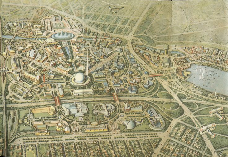 New York World's Fair in 1939 and 1940. The map above were printed in the official guidebook.