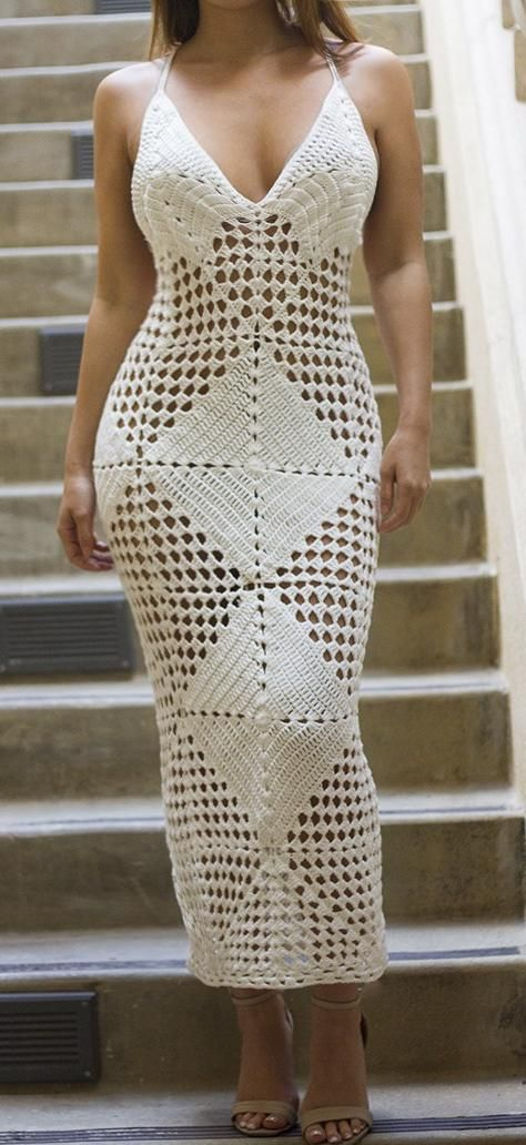 INDAH LIMITED EDITION White Crochet Coverup Dress