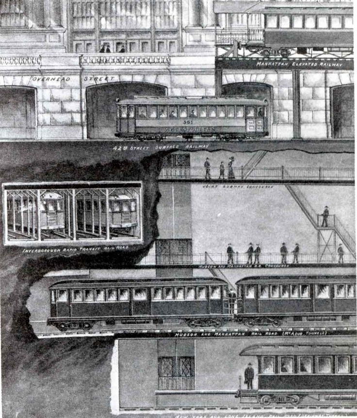 Grand Central Cross Section Illustration Beautiful