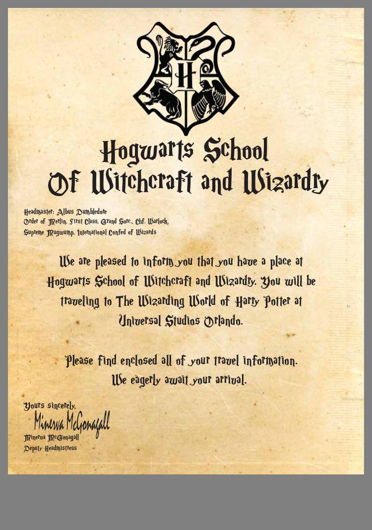 12+ Hogwarts letter template doc inspirations