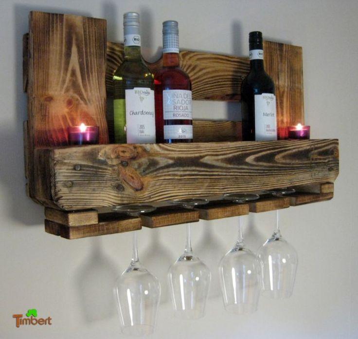 M s de 20 ideas incre bles sobre estantes de pared r stico - Estantes de madera para pared ...