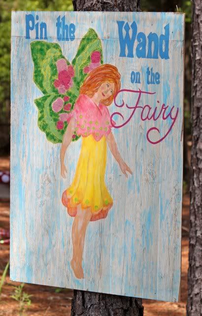 tinkerbell or fairy birthday party pin the wand on the fairy activity
