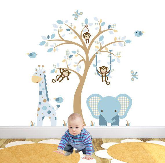 Spectacular Verzauberte Innenr ume Jungle Wandtattoo Aufkleber Premium selbstklebend Stoff Kinderzimmer Wand Kunst Ungef hre