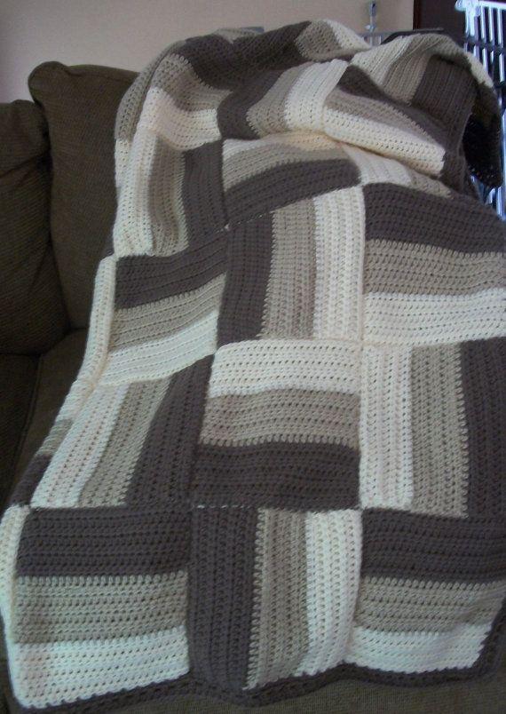 Xtra 10 off christmas sale log cabin afghan crochet for Log cabin blanket